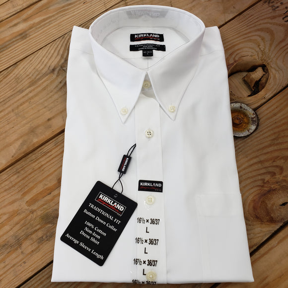 Men's New large Kirkland dress shirt