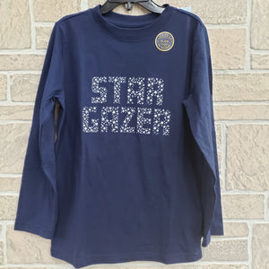 Youth STAR GAZER glow in the dark long sleeve tee