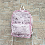 Clear pink backpack