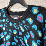 Joe Boxer blue Leopard sweater