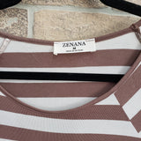 Zenana soft striped top