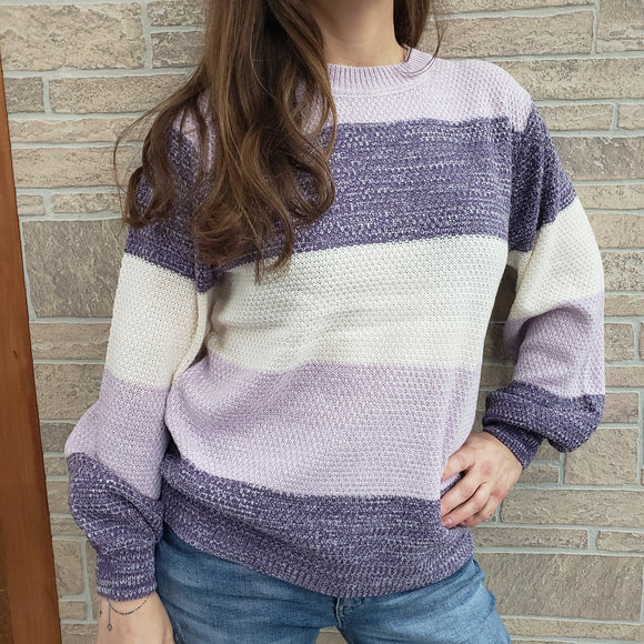 Zenana brand striped sweater