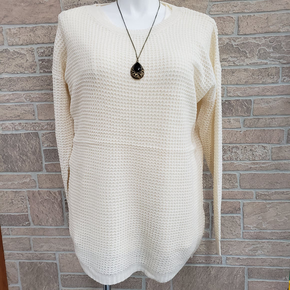 Zenana Plus Size Ivory Sweater