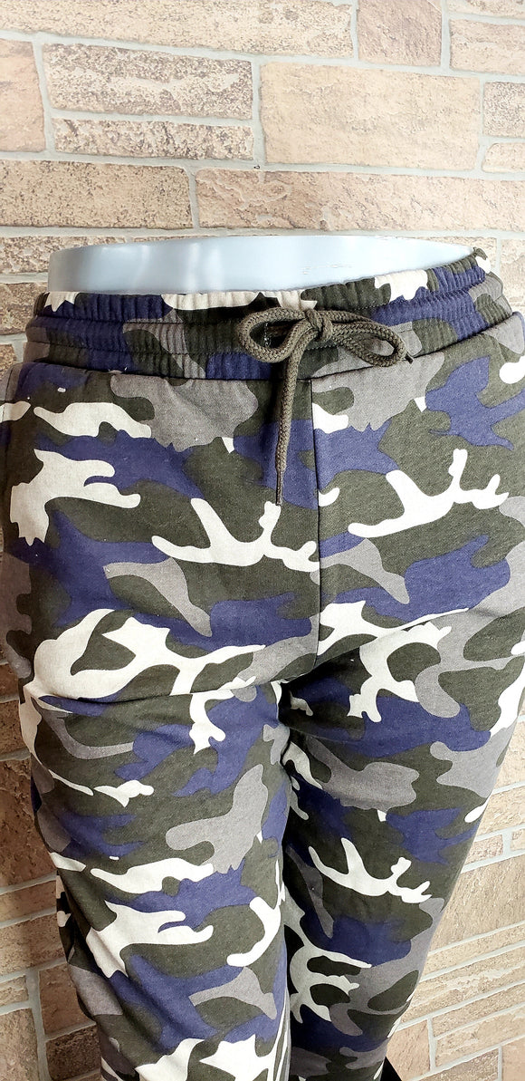 Plus size Camo Joggers by Zenana