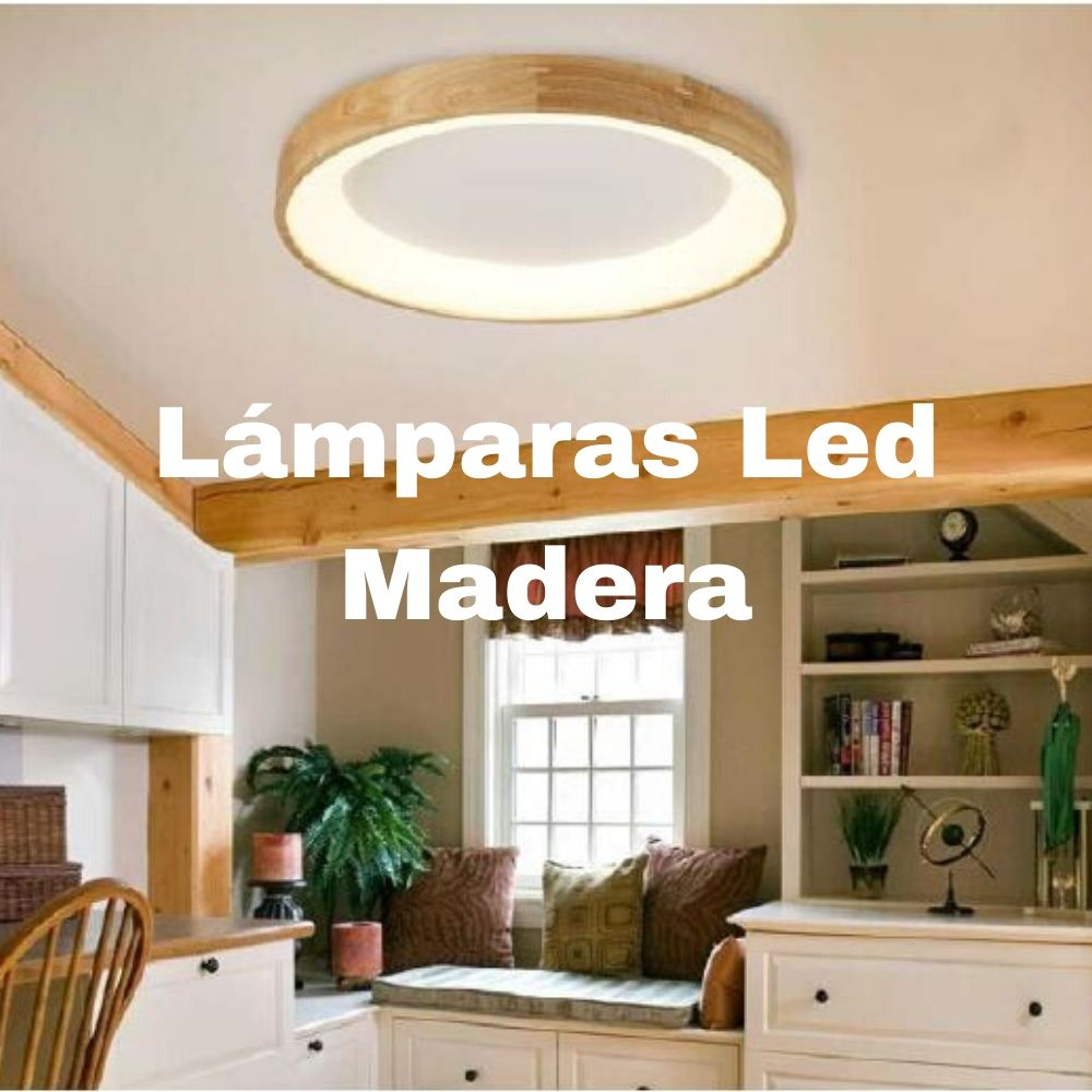 lámparas led en madera