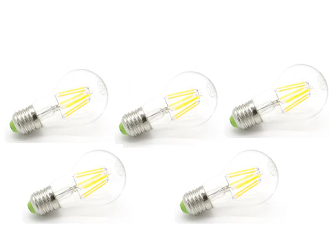Pack 5 Bombillas Estándar Filamento Led Eco.