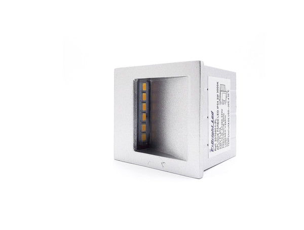 Aplique Led Cuadrado de Pared  Exterior, 3000k 3w.