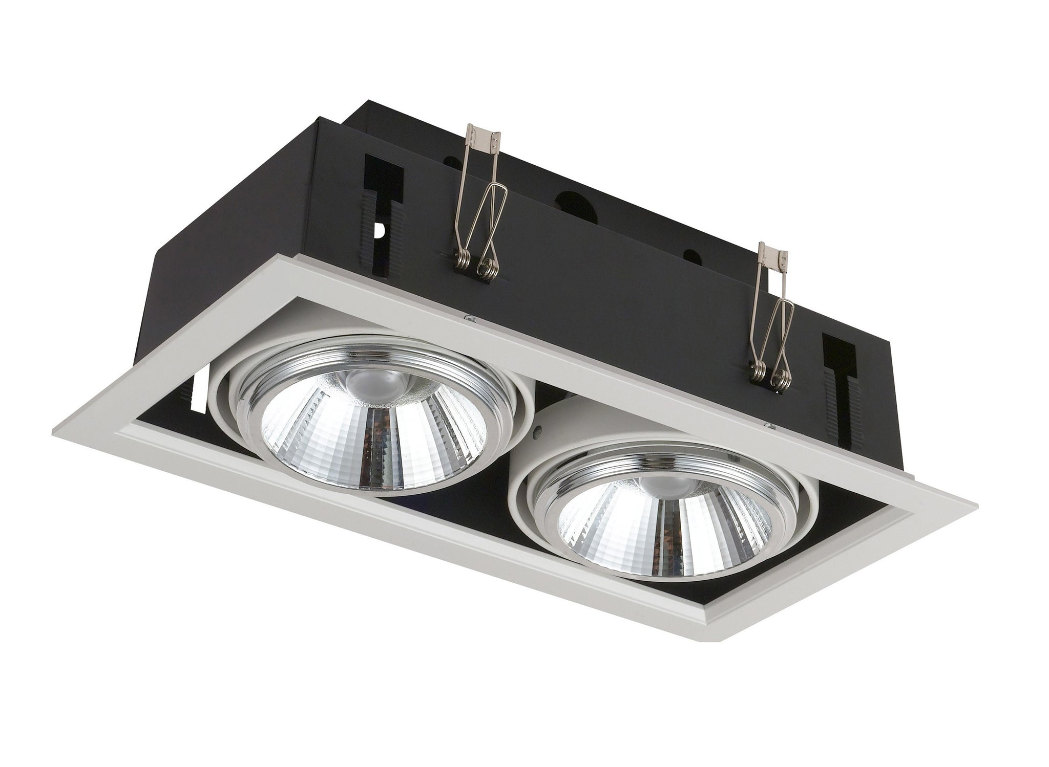Downlight Doble Empotrable Led Orientable 3000K 40W.
