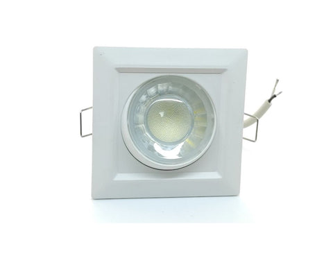 Downlight Led Cuadrado Empotrable Orientable 8w 3000K - 6000K