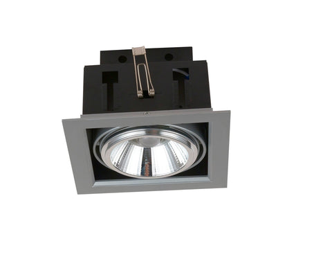 Downlight Empotrable Led Orientable 3000k 20w Plata
