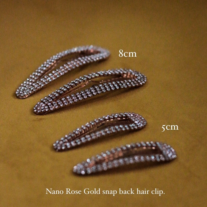 Nano Rose Gold Snapback Hair Clip