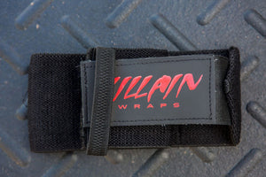 "16"" Black Villain Sidekick Wrist Wraps"