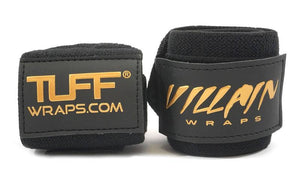 "16"" Black Gold Villain Sidekick Wrist Wraps"