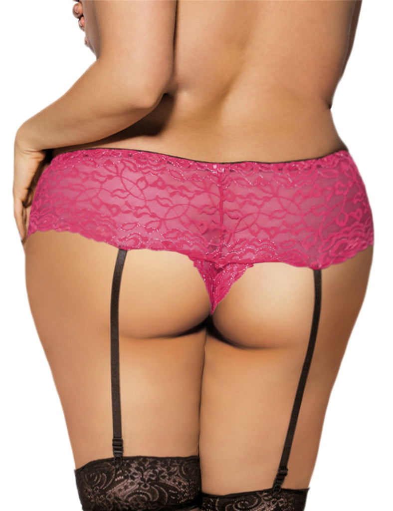 Crotchless Lace Gstring