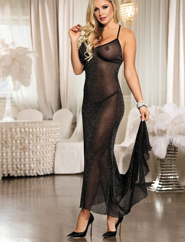 Midnight Romance Lingerie Gown