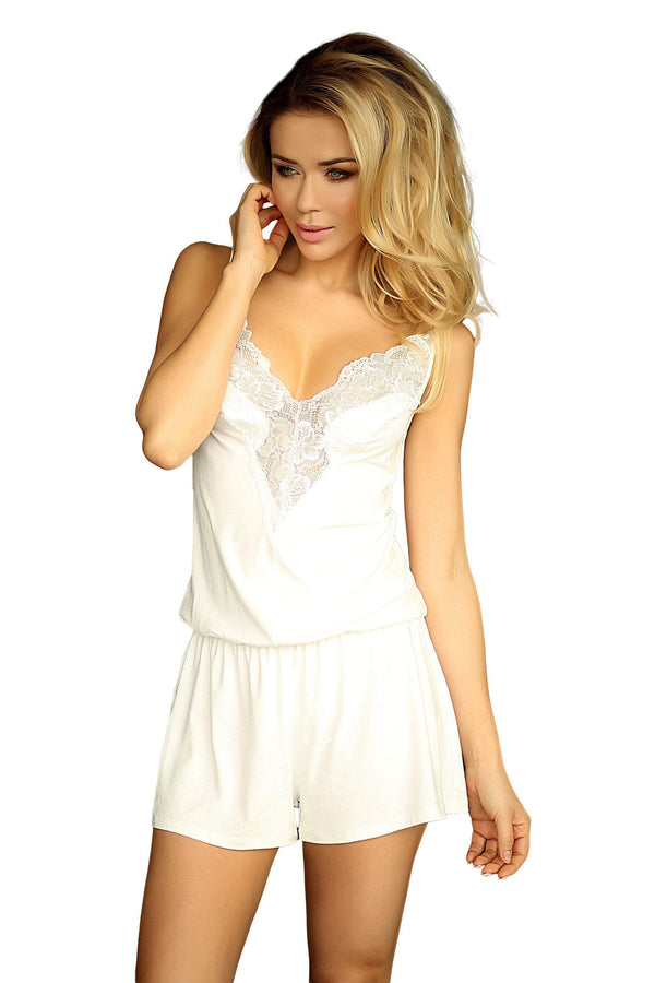 luxury Viscose Sleepwear Set - ecru