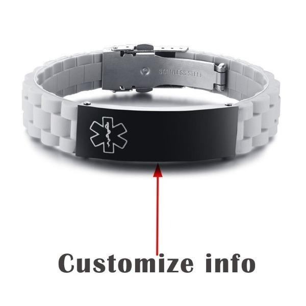 Custom Engraved Medical  Alert Id Bracelet
