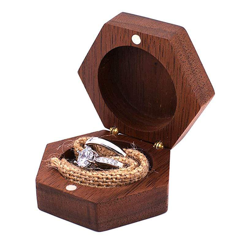 Wedding Engagement Ring Bearer Box