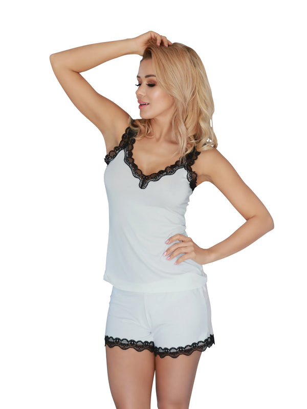 Sexy Sleepwear Nightwear Set - ecru