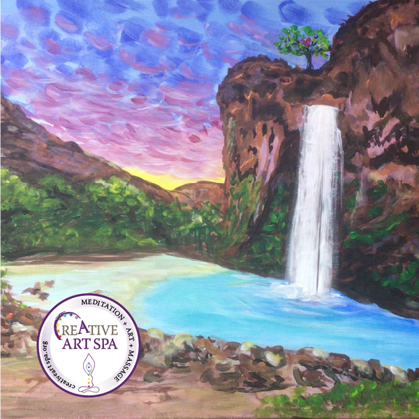 Creative ART SPA : Acrylic Painting – Havasu Falls
