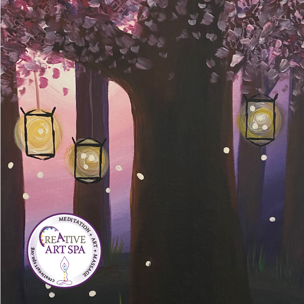 Creative ART SPA : Acrylic Painting - In the Firefly Forrest