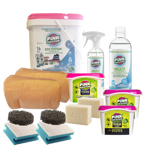 14-Piece Eco Cleaning Kit - Pink Solution