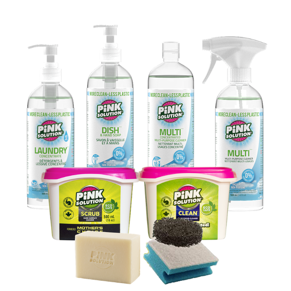 Home Cleaning Bundle - Unscented - Pink Solution