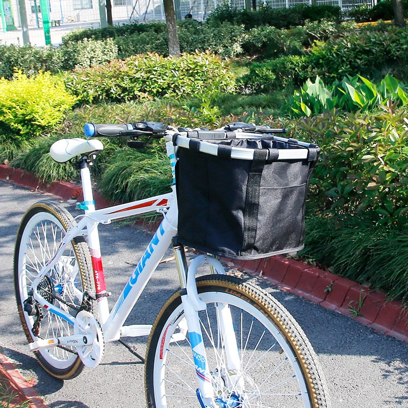 Bike Basket Handlebar Pannier Cycling