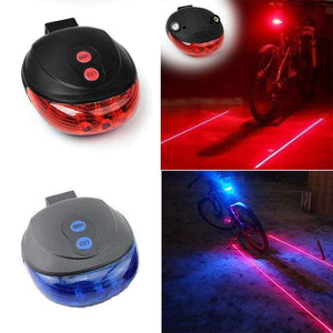 BikeAdrenaline™ LED & LASER LANES BICYCLE TAIL LIGHT