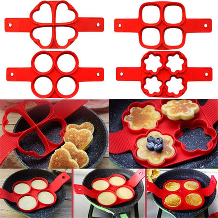1Pcs Silicone Non-Stick Fantastic Egg Pancake Maker Egg Ring Mod kitchen Accessories Today Panda