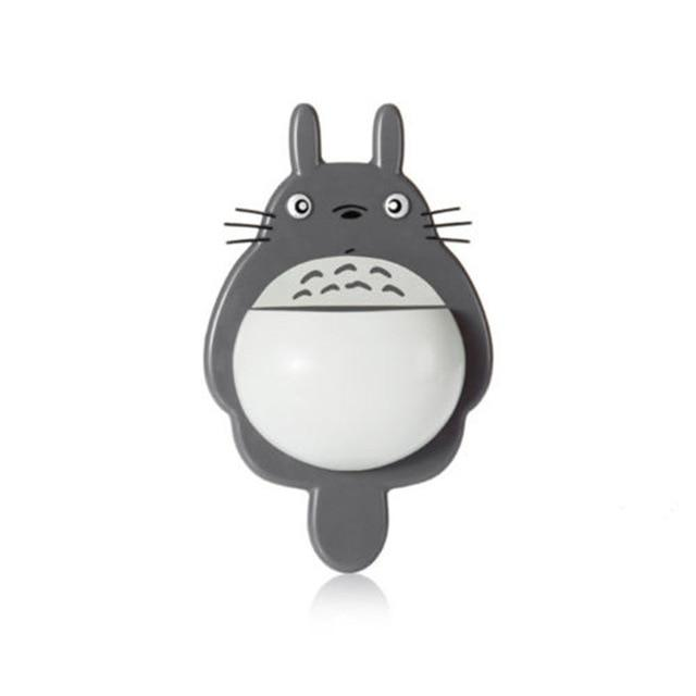 1Pcs Toothbrush Cute Totoro Wall Mount Toothbrush Holder Bathroom Home Accessories Today Panda Dark Grey