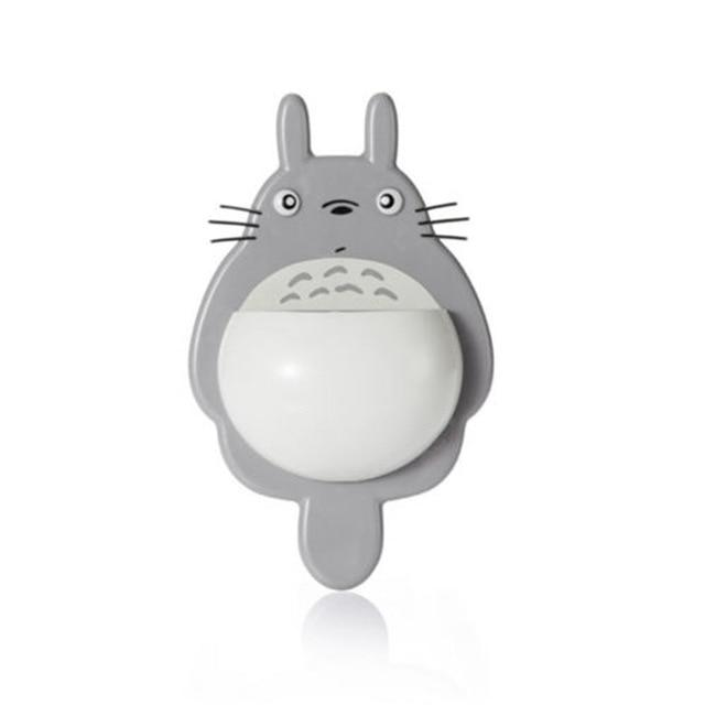1Pcs Toothbrush Cute Totoro Wall Mount Toothbrush Holder Bathroom Home Accessories Today Panda Grey