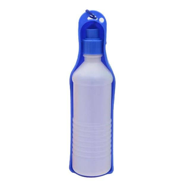 250/500ml Portable Dog Water Bottle Feeder With Plastic Bowl Pet Accessories Today Panda Blue 500ml