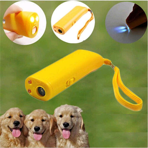 3 In 1 Dog Repeller Anti Barking Stop Bark LED Ultrasonic Training Device Pet Accessories Today Panda