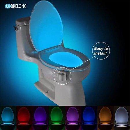 8 Color LED Sensor Toilet Automatic Backlit Home Accessories Today Panda
