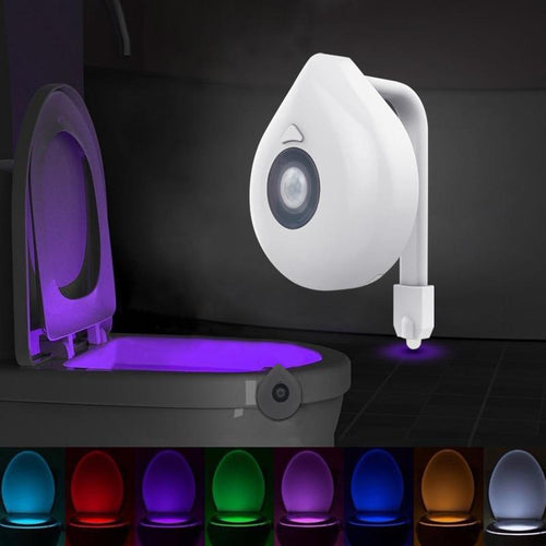 8 Colour LED Toilet Seat Night Light Motion Sensor Home Accessories Today Panda