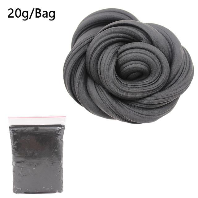 DIY Light Soft Cotton Charms Slime Fruit Kit Cloud Craft Kids Toys for Children Toys Today Panda Black Slime