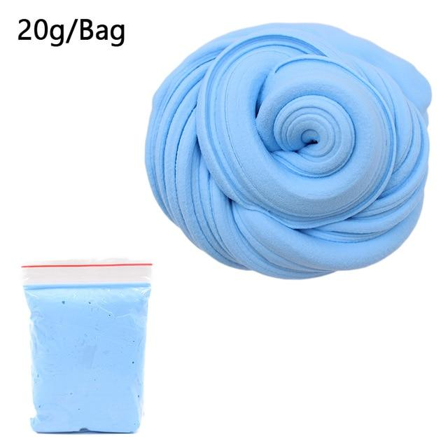DIY Light Soft Cotton Charms Slime Fruit Kit Cloud Craft Kids Toys for Children Toys Today Panda Blue Slime