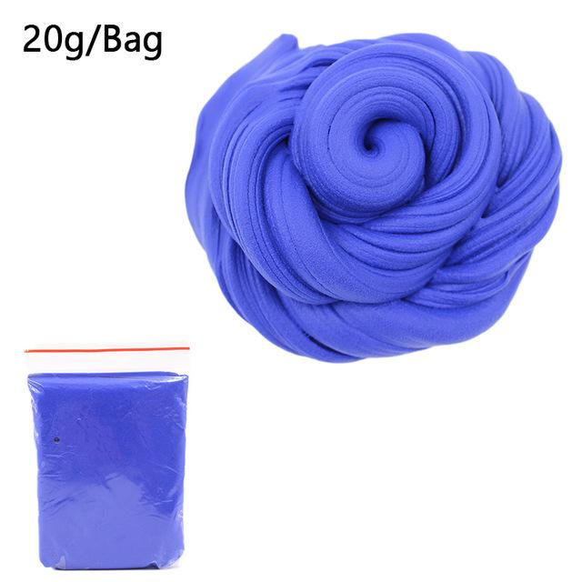 DIY Light Soft Cotton Charms Slime Fruit Kit Cloud Craft Kids Toys for Children Toys Today Panda Dark Blue Slime