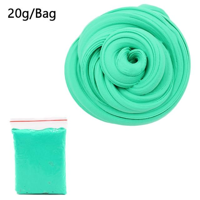 DIY Light Soft Cotton Charms Slime Fruit Kit Cloud Craft Kids Toys for Children Toys Today Panda Dark Green Slime