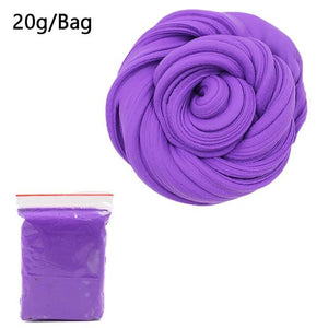 DIY Light Soft Cotton Charms Slime Fruit Kit Cloud Craft Kids Toys for Children Toys Today Panda Dark Purple Slime