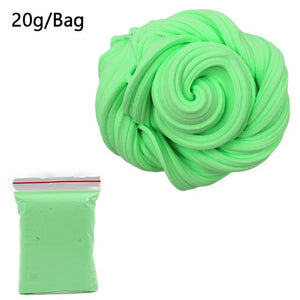DIY Light Soft Cotton Charms Slime Fruit Kit Cloud Craft Kids Toys for Children Toys Today Panda Green Slime
