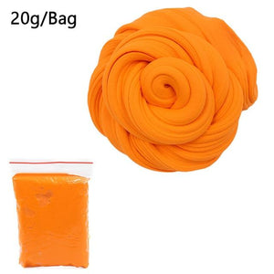 DIY Light Soft Cotton Charms Slime Fruit Kit Cloud Craft Kids Toys for Children Toys Today Panda Orange Slime