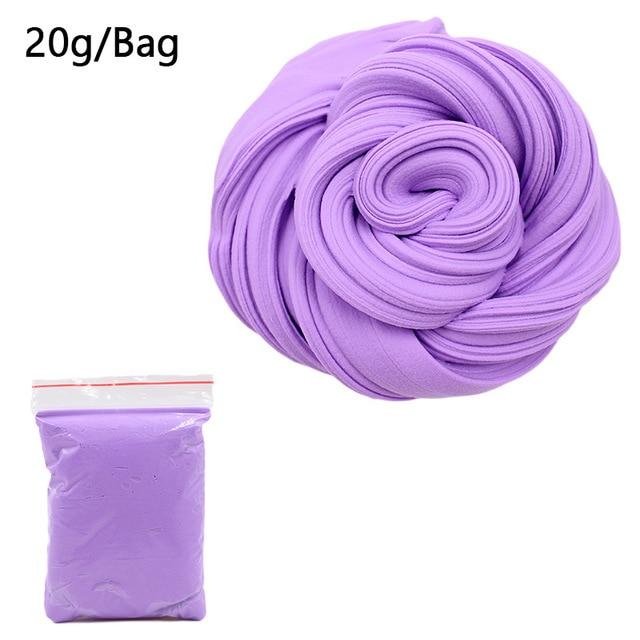 DIY Light Soft Cotton Charms Slime Fruit Kit Cloud Craft Kids Toys for Children Toys Today Panda Purple Slime