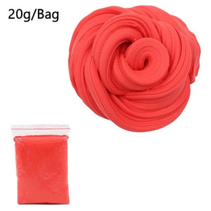 DIY Light Soft Cotton Charms Slime Fruit Kit Cloud Craft Kids Toys for Children Toys Today Panda Red Slime