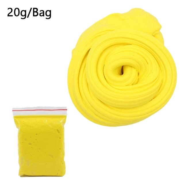 DIY Light Soft Cotton Charms Slime Fruit Kit Cloud Craft Kids Toys for Children Toys Today Panda Yellow Slime