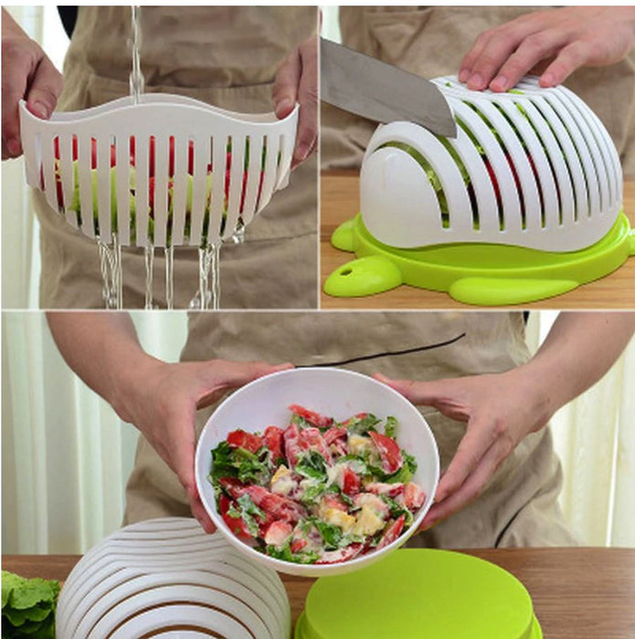 Easy Salad Cutting Bowl - Kitchen Washing Strainer kitchen Accessories Today Panda