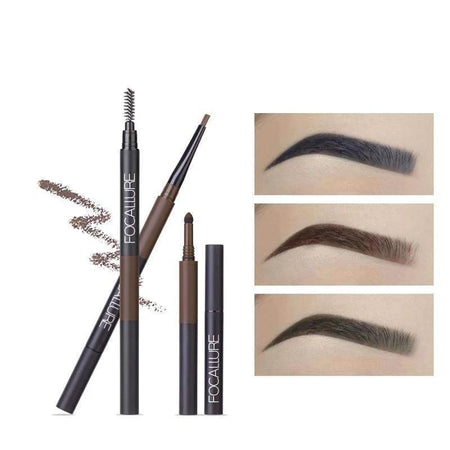 FOCALLURE 3 in 1 Waterproof Long Lasting Eyebrow Pencil Eye Makeup Tools Today Panda