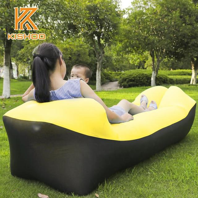 Inflatable Air Sofa Bed Good Quality Sleeping Beach Sofa Amazing Product Today Panda black and yellow