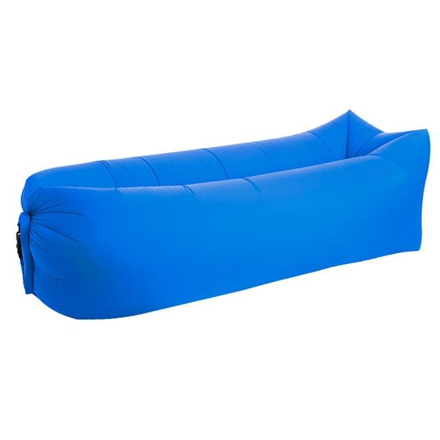 Inflatable Air Sofa Bed Good Quality Sleeping Beach Sofa Amazing Product Today Panda Sapphire Square